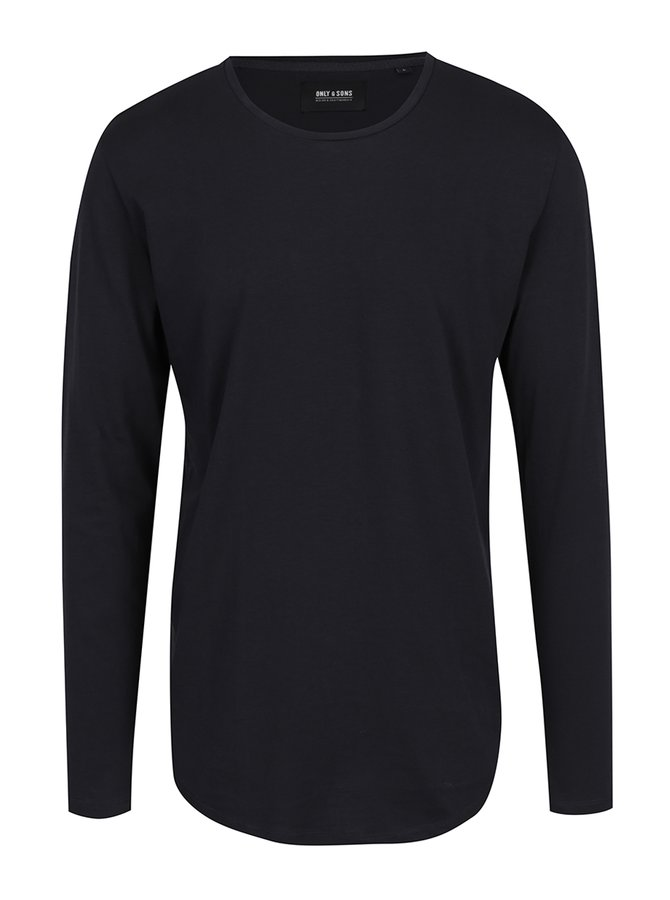 Tmavě modré basic triko s dlouhým rukávem ONLY & SONS Matt