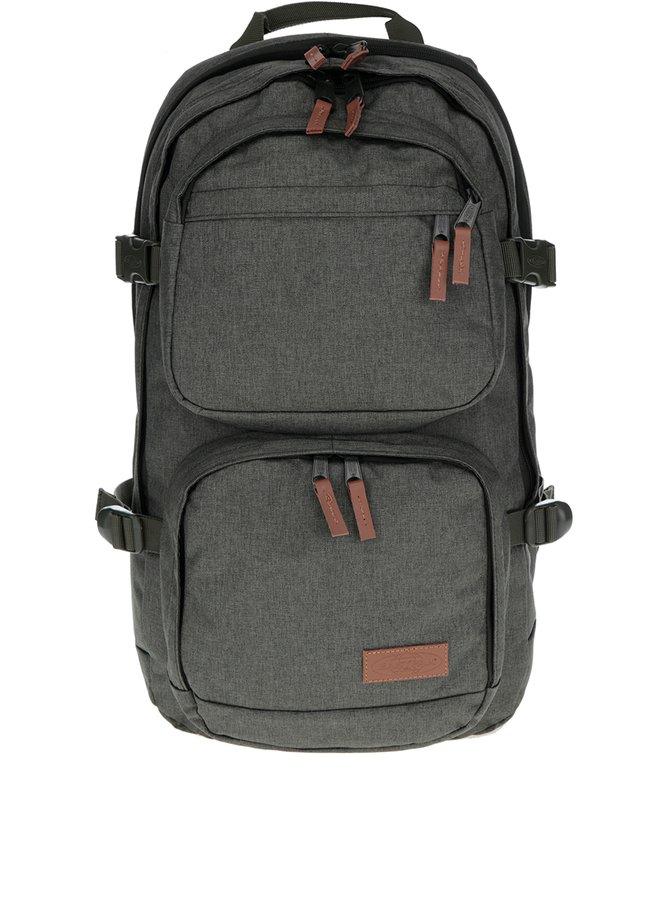 Zelený batoh s koženými detaily Eastpak Hutson 27 l