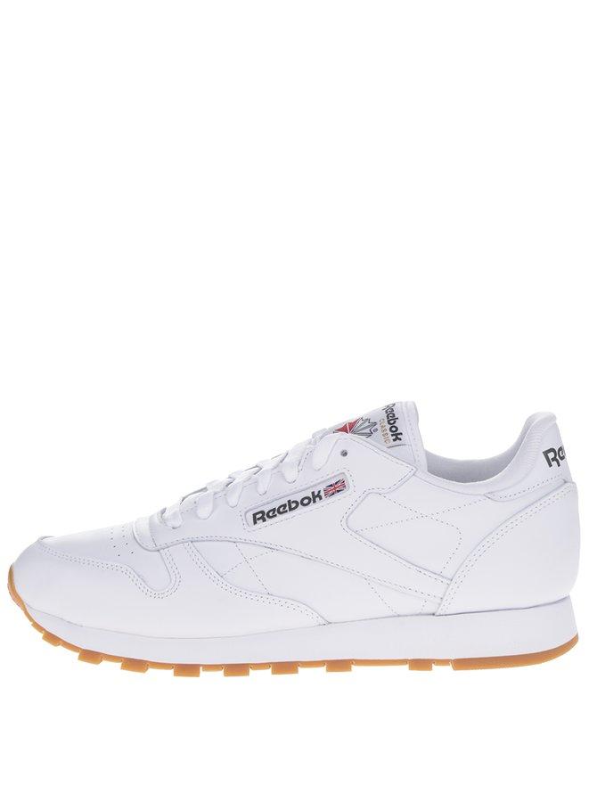 Pantofi sport albi din piele pentru bărbați - Reebok