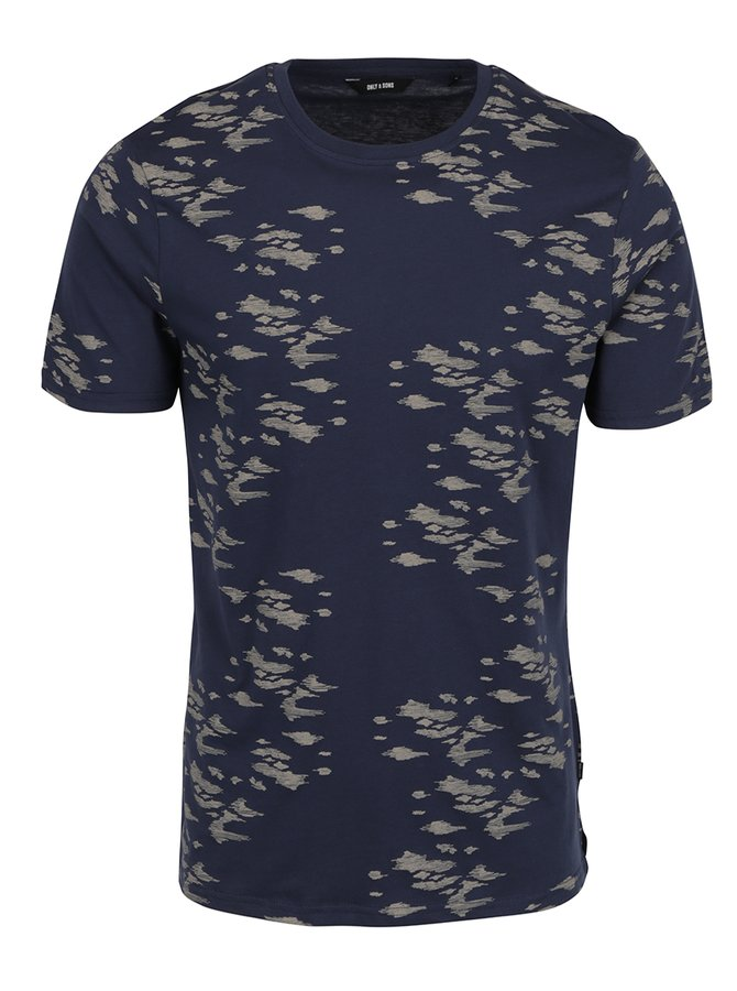 Tricou albastru ONLY & SONS Hasse
