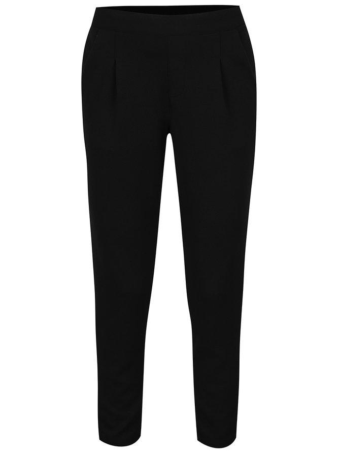 Černé zkrácené kalhoty s kapsami Jacqueline de Yong Dazzle