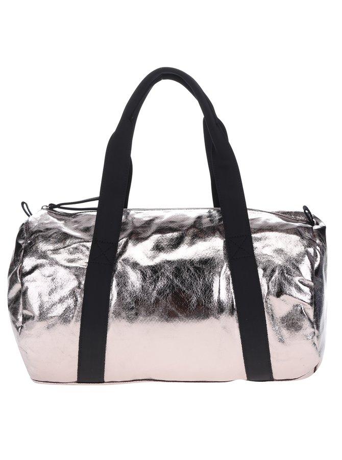 Růžová lesklá sportovní taška Pieces Joni