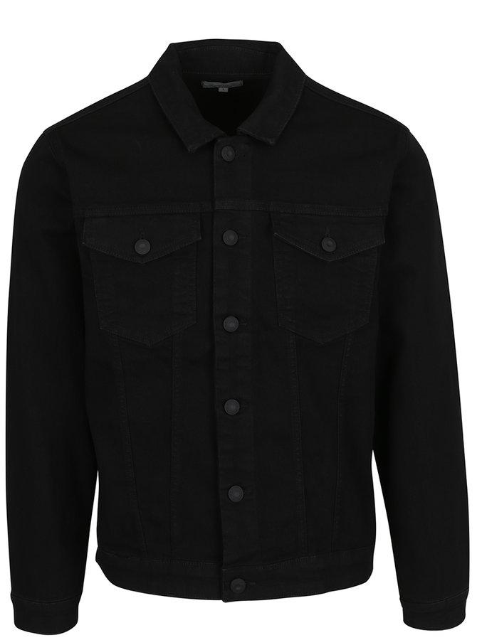 Jachetă neagră din denim ONLY & SONS Chris