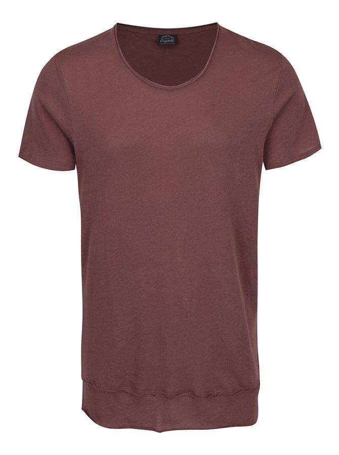 Hnědé triko s krátkým rukávem Jack & Jones Hem
