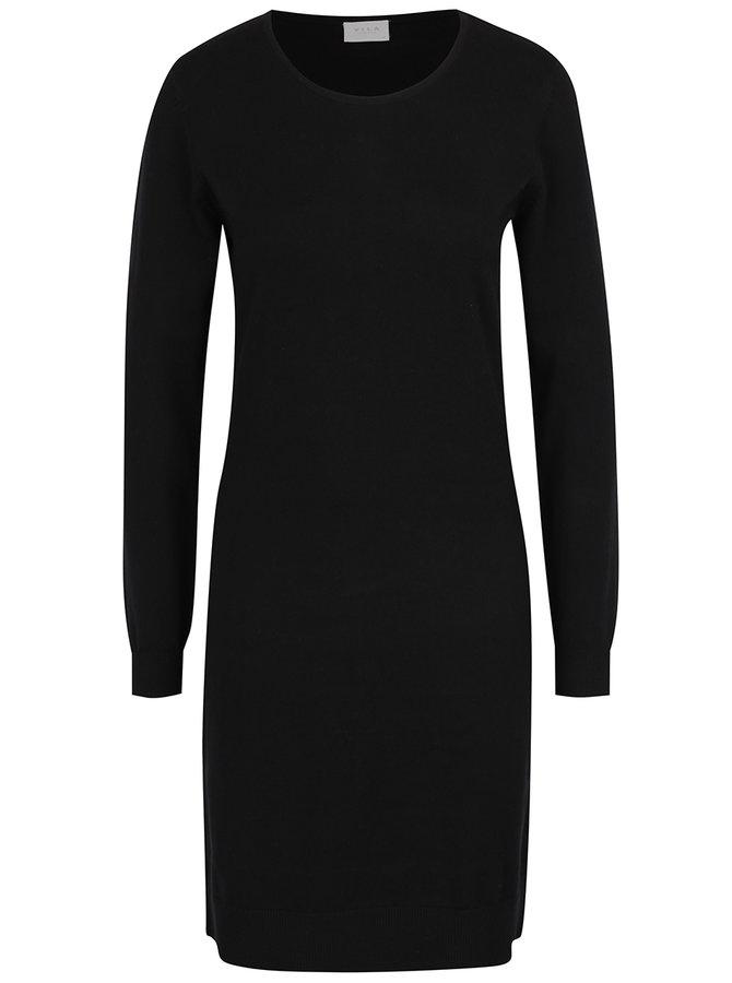 Rochie - pulover lung negru VILA Bekka