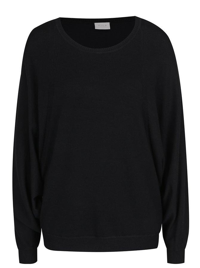 Černý svetr s netopýřími rukávy VILA Lost