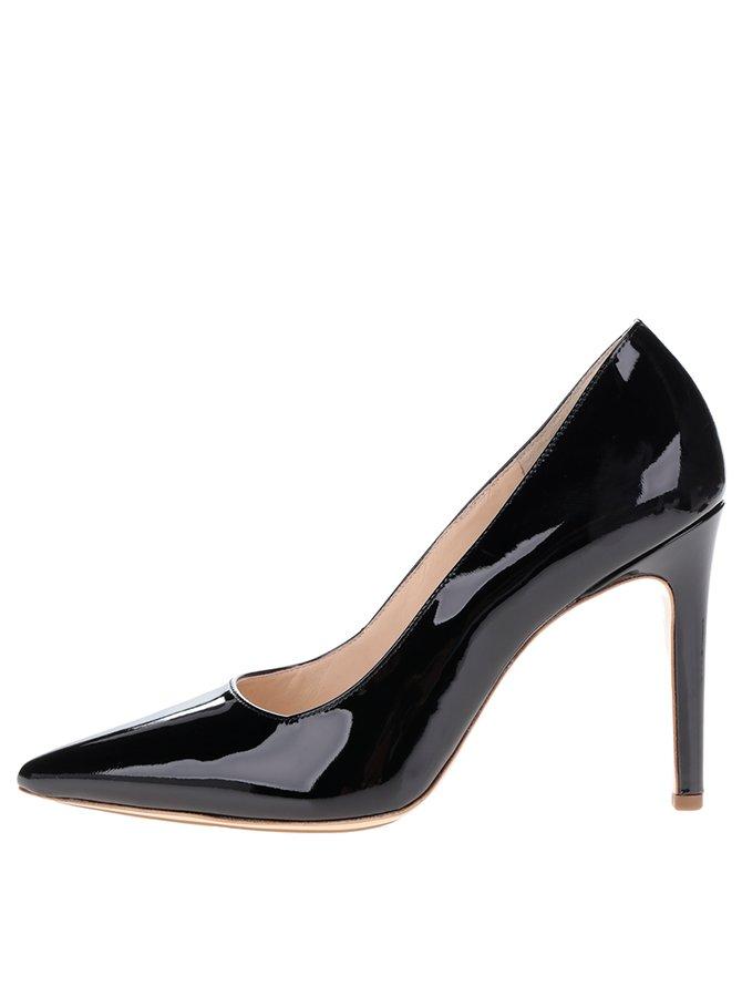 Pantofi negri din piele lăcuită Högl