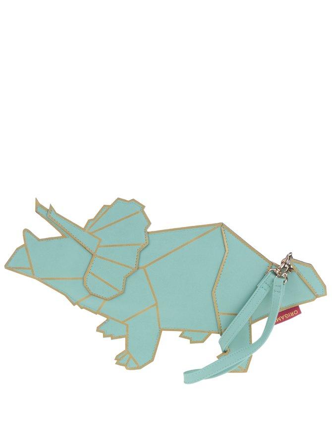 Geantă turcoaz Disaster Origami sub formă de dinozaur