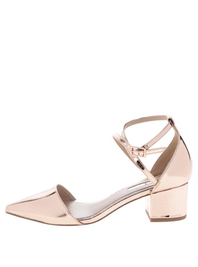 Světle růžové lesklé sandálky s uzavřenou špičkou Miss KG Ava