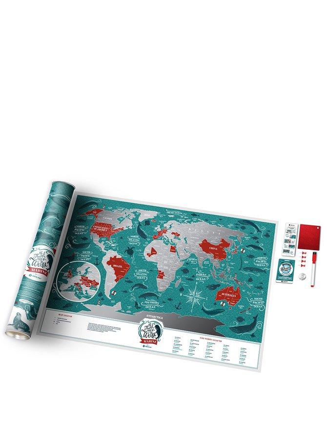 Hartă răzuibilă a lumii Travel Map
