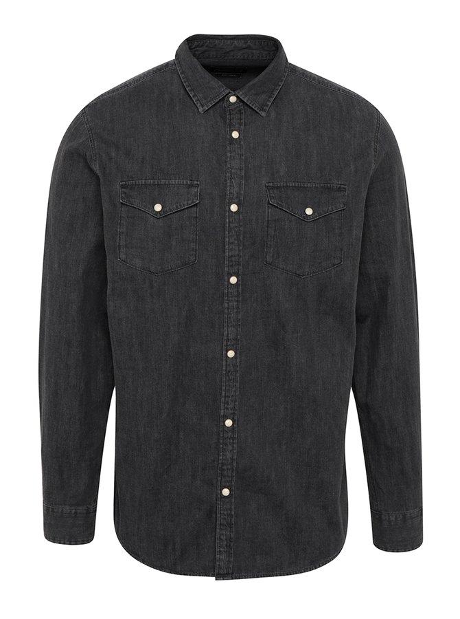 Černá džínová slim fit košile Jack & Jones New One