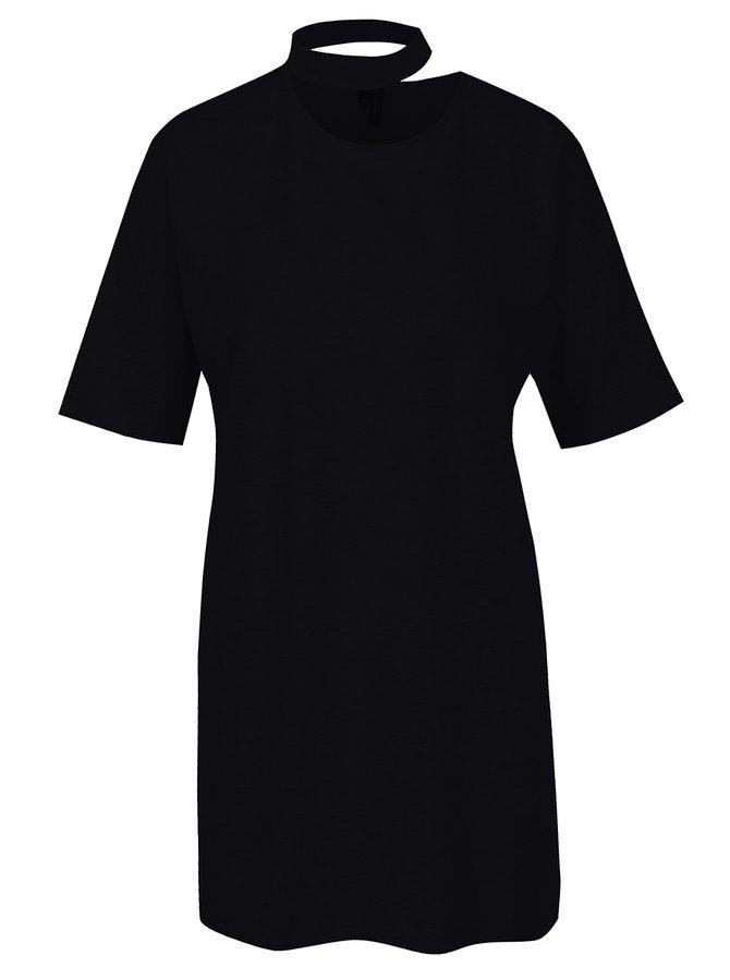 Tricou negru oversized cu choker - VERO MODA Jelica