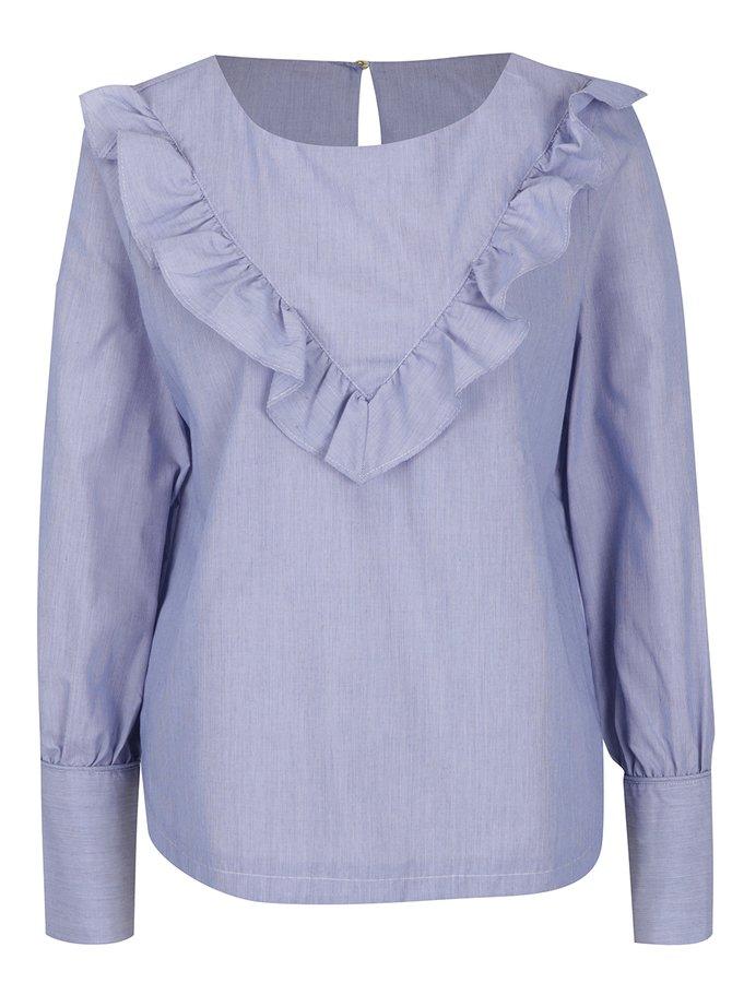 Bluză bleu cu volane - VERO MODA Elizabeth