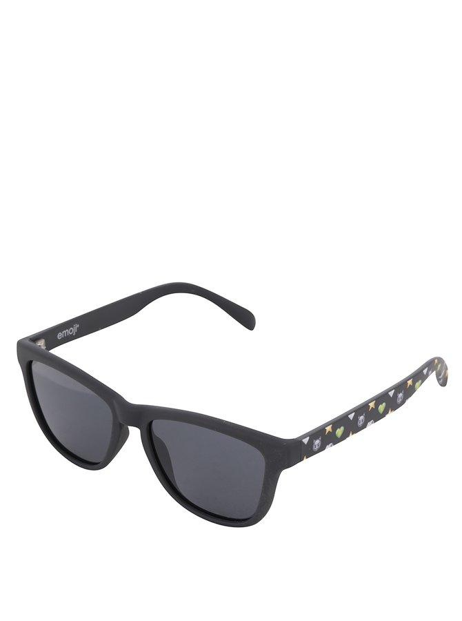 Černé klučičí sluneční brýle Emoji Diamond