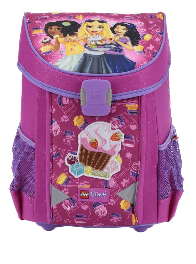 Ghiozdan roz cu print  LEGO Wear Friends Cupcake Easy 21 l