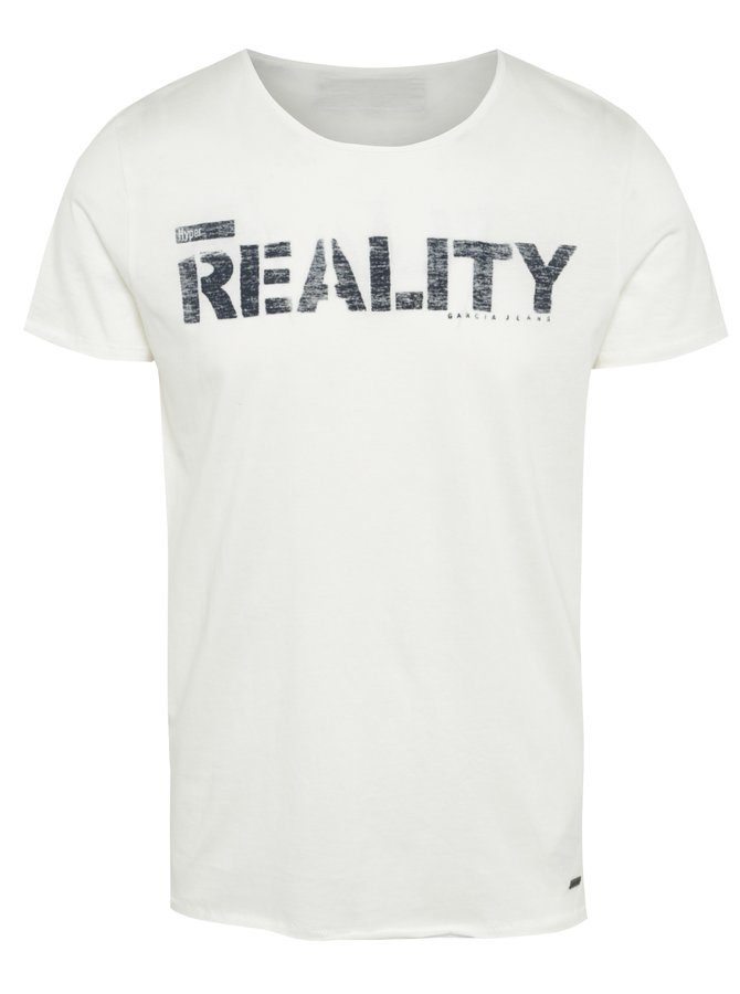 Krémové pánské triko s potiskem Garcia Jeans