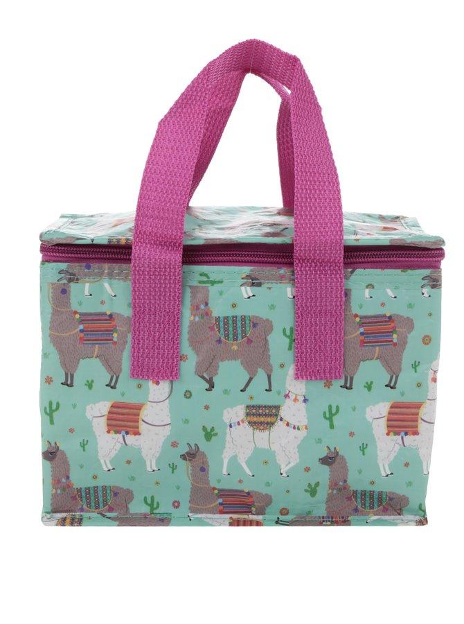 Zelená pikniková taška s motivem lam Sass & Belle Lima Llama