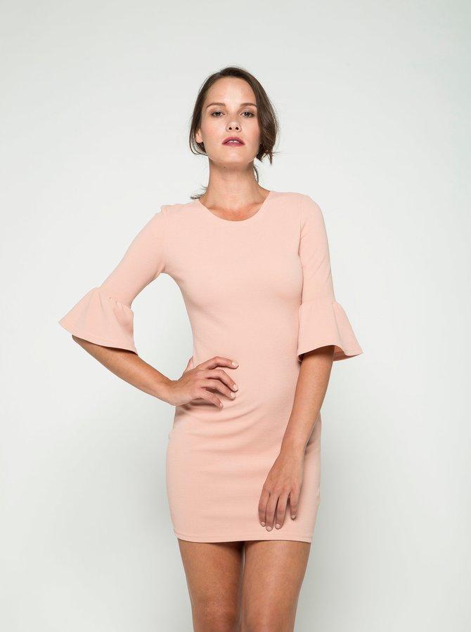 Rochie roz prăfuit AX Paris cu mâneci tip clopot