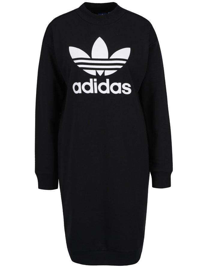 Rochie neagra cu print logo adidas Originals