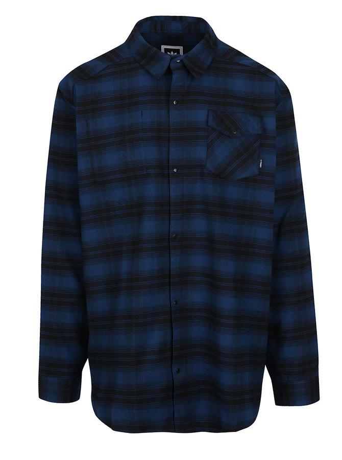 Černo-modrá pánská kostkovaná košile adidas Originals