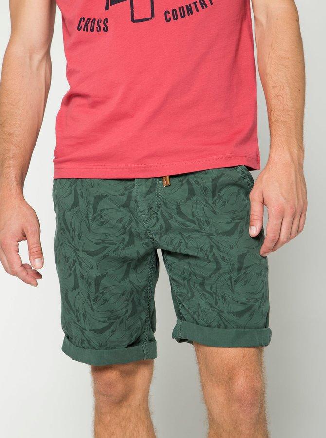 Pantaloni scurți kaki cu imprimeu Blend
