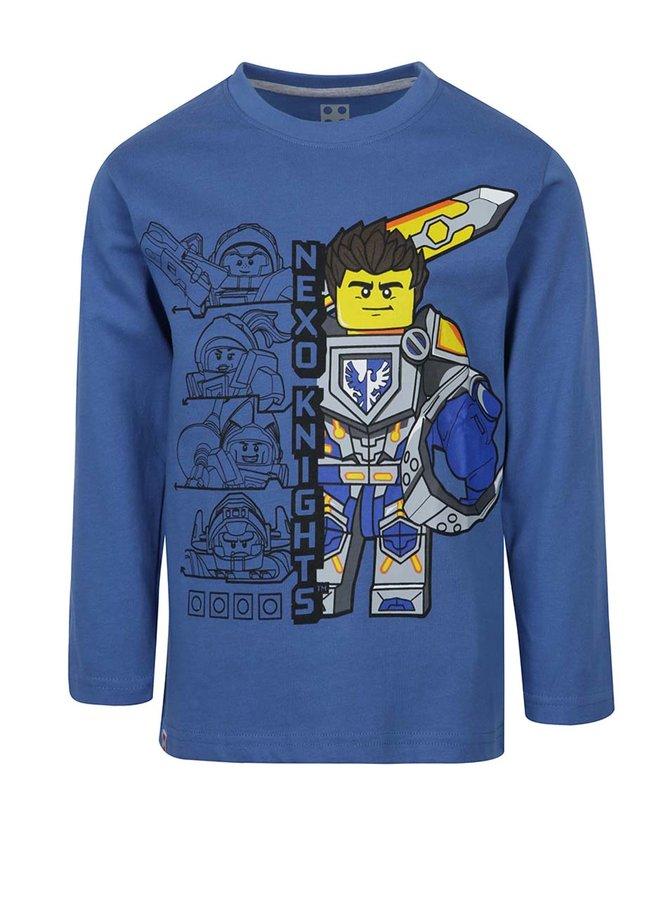 Bluză albastră cu mâneci lungi și print Lego Wear pentru băieți