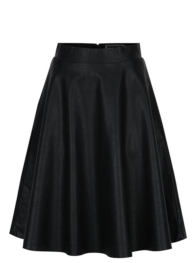 Černá koženková sukně Noisy May Anna