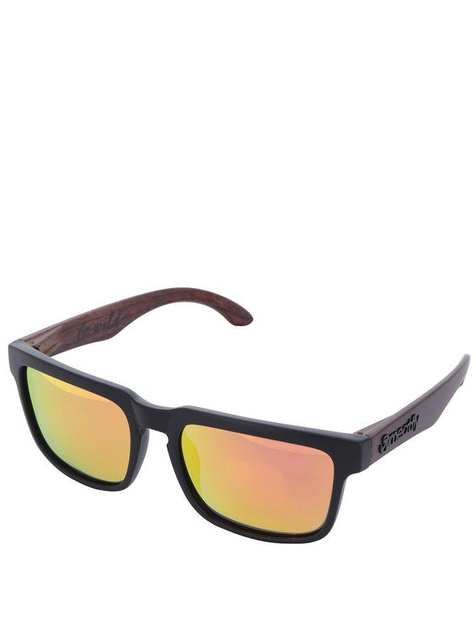 Ochelari de soare cu lentile oranj pentru bărbați - Meatfly