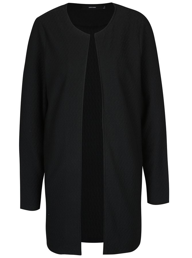 Jachetă neagră fără închidere VERO MODA Ditte