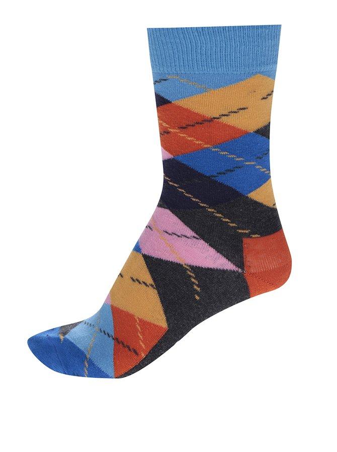 Șosete unisex multicolore înalte  Happy Socks Argyle