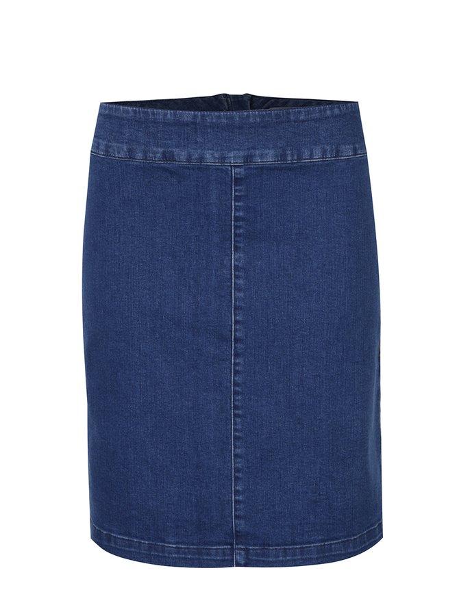 Modrá džínová sukně s výšivkami na bocích Dorothy Perkins
