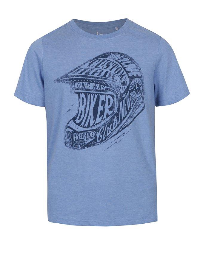 Tricou albastru cu imprimeu pentru băieți - 5.10.15.