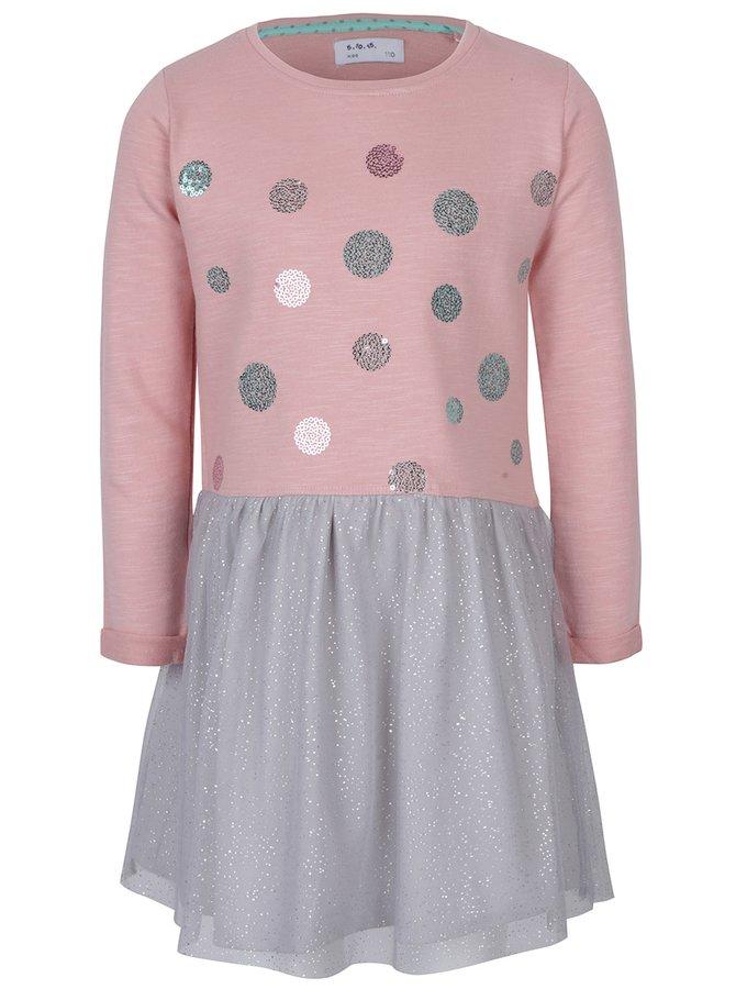 Rochie roz & gri pentru fete - 5.10.15.