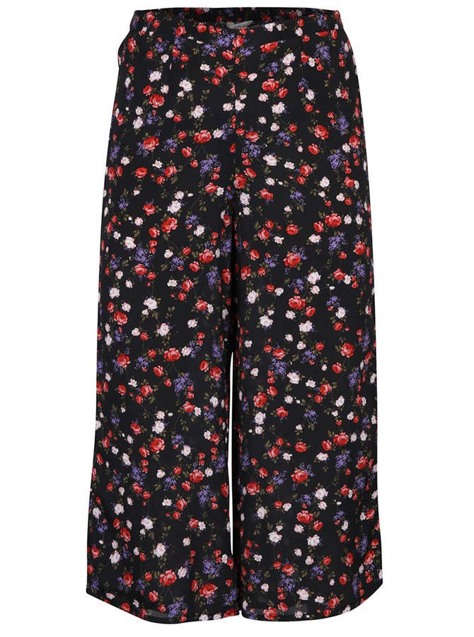 Fustă - pantalon neagră cu flori - Miss Selfridge