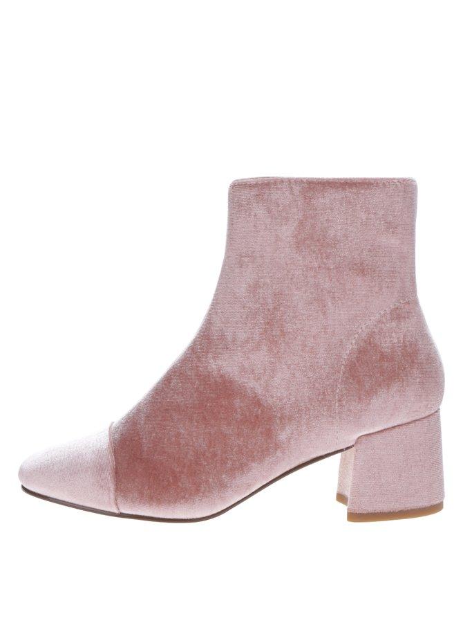 Botine pe gleznă roz pudrat - Miss Selfridge