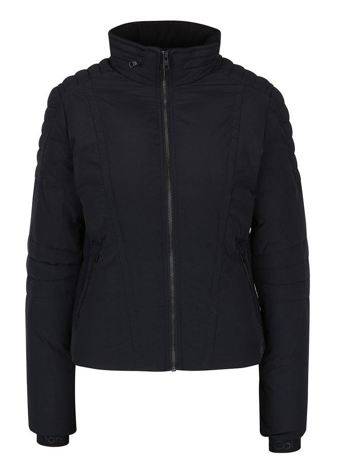 Černá dámská prošívaná bunda se skrytou kapucí Calvin Klein Jeans Ofira