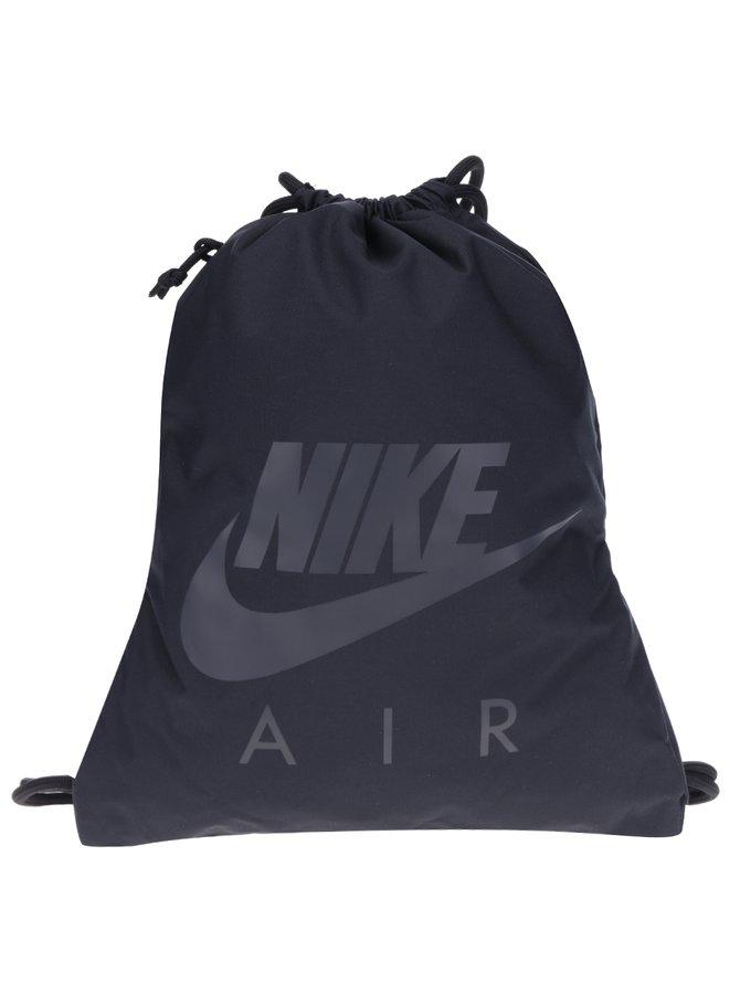 Černý vak s kapsou a potiskem Nike Heritage 13 l