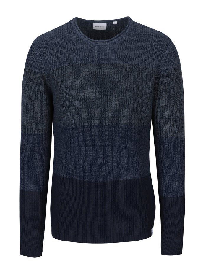 Tmavě modrý pruhovaný svetr ONLY & SONS Sato