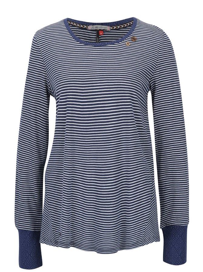 Bluză albastră cu dungi și fantă cu nasturi Ragwear Malina