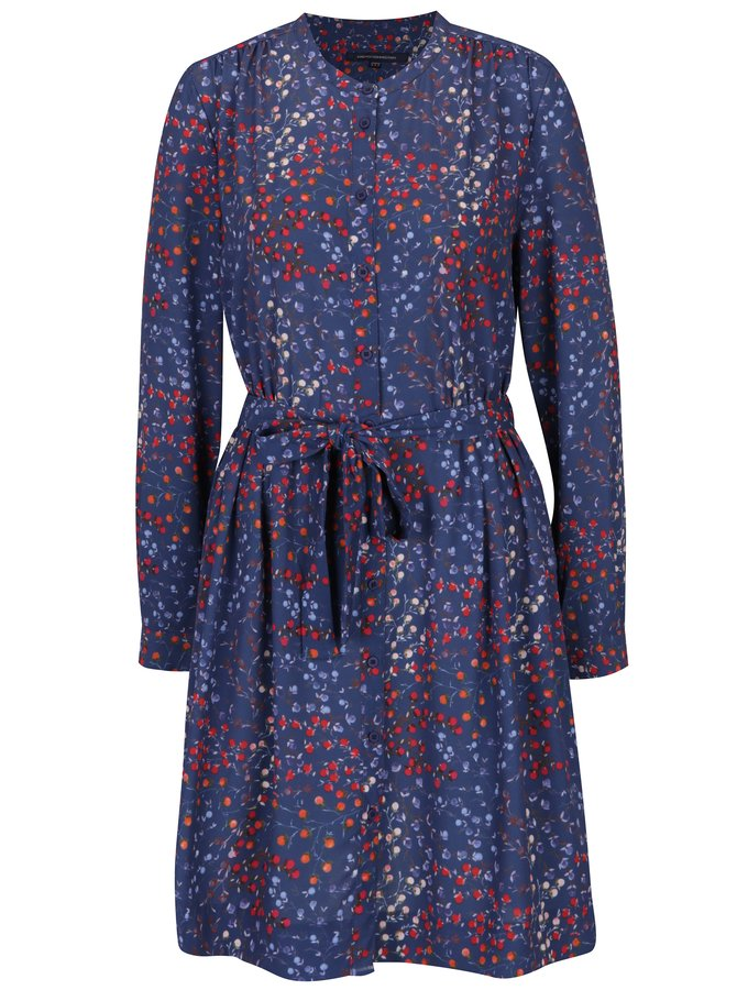 Rochie mov cu print floral  French Connection Frances