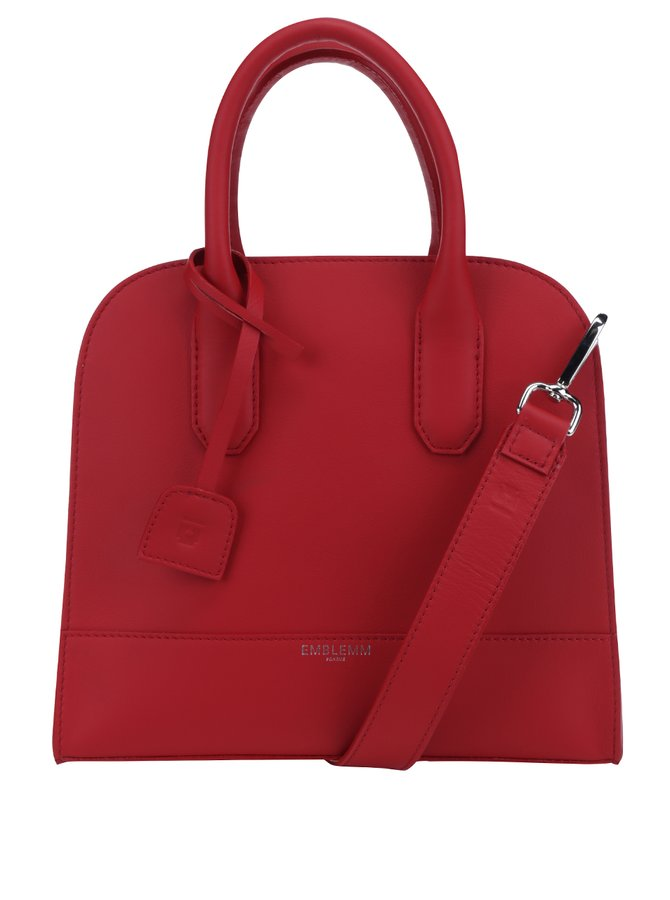 Červená kožená kabelka Emblemm
