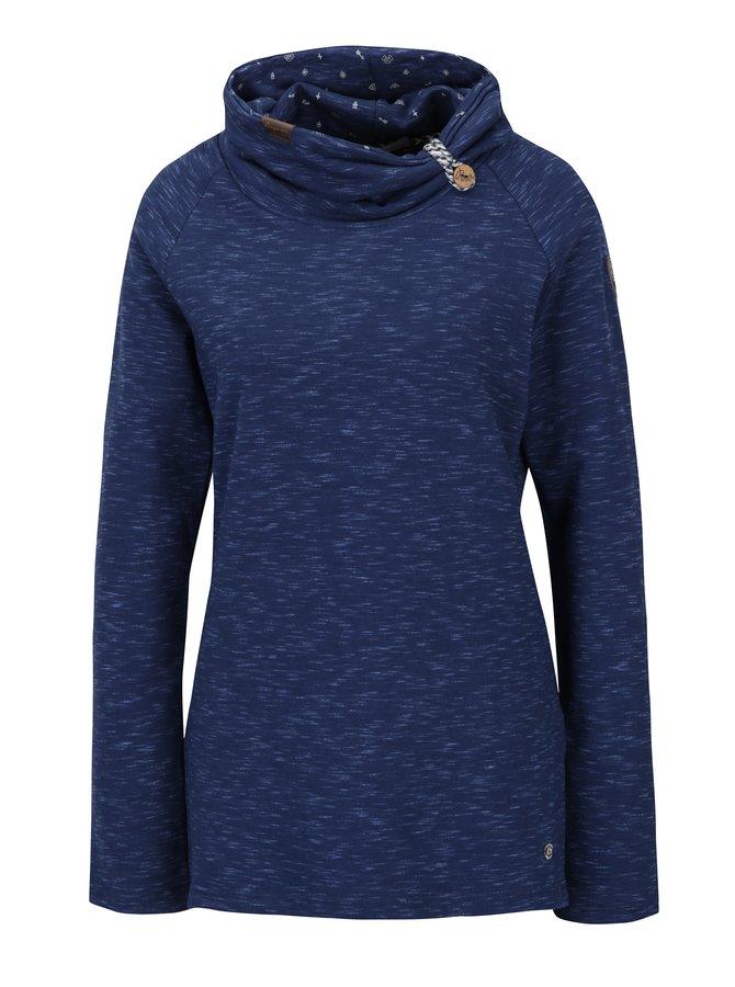 Bluză sport albastră cu guler înalt Ragwear Denise