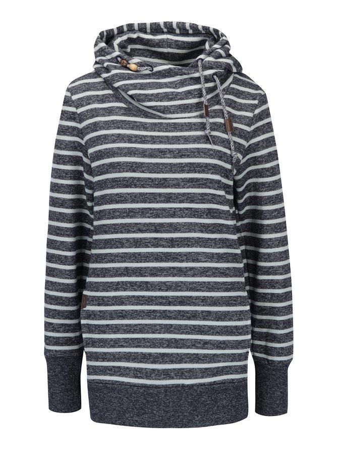 Hanorac gri deschis&bleumarin cu dungi și buzunare  Ragwear Beat Stripes