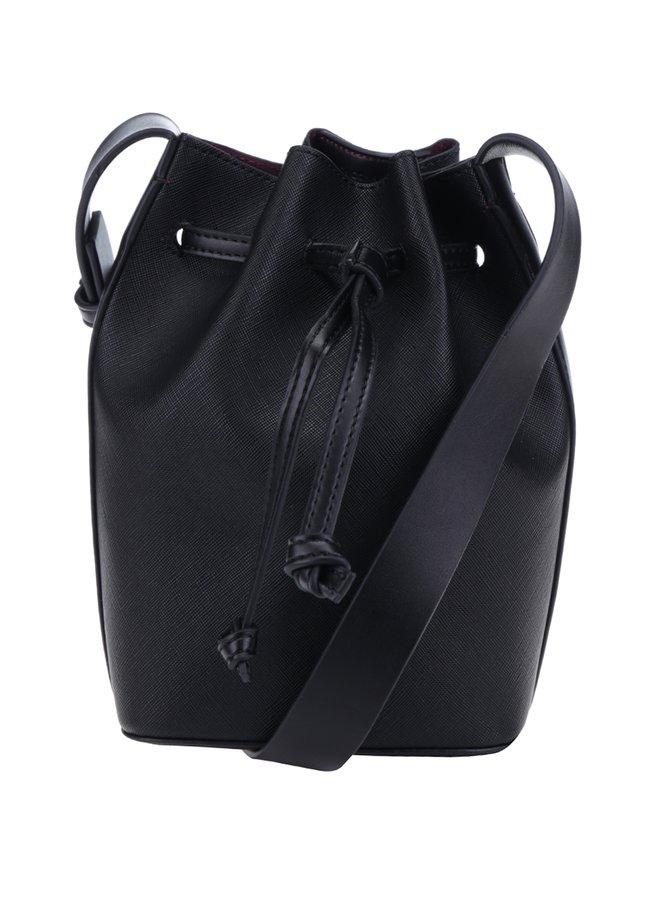 Geantă neagră tip sac French Connection Saffiano Chelsea
