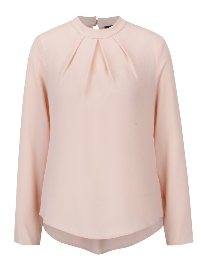 Bluză roz piersică cu pliuri  Dorothy Perkins