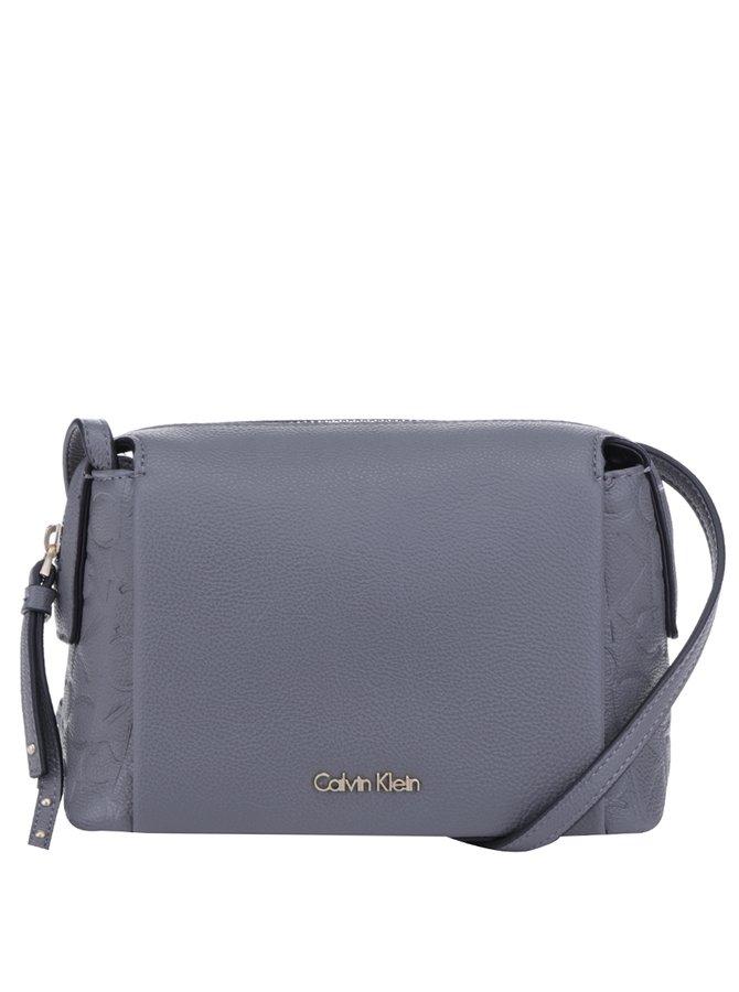 Šedá crossbody kabelka s reliéfním vzorem Calvin Klein Jeans Misha