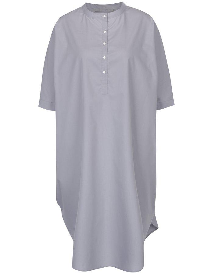 Rochie cămașă gri cu croi oversized Soolista