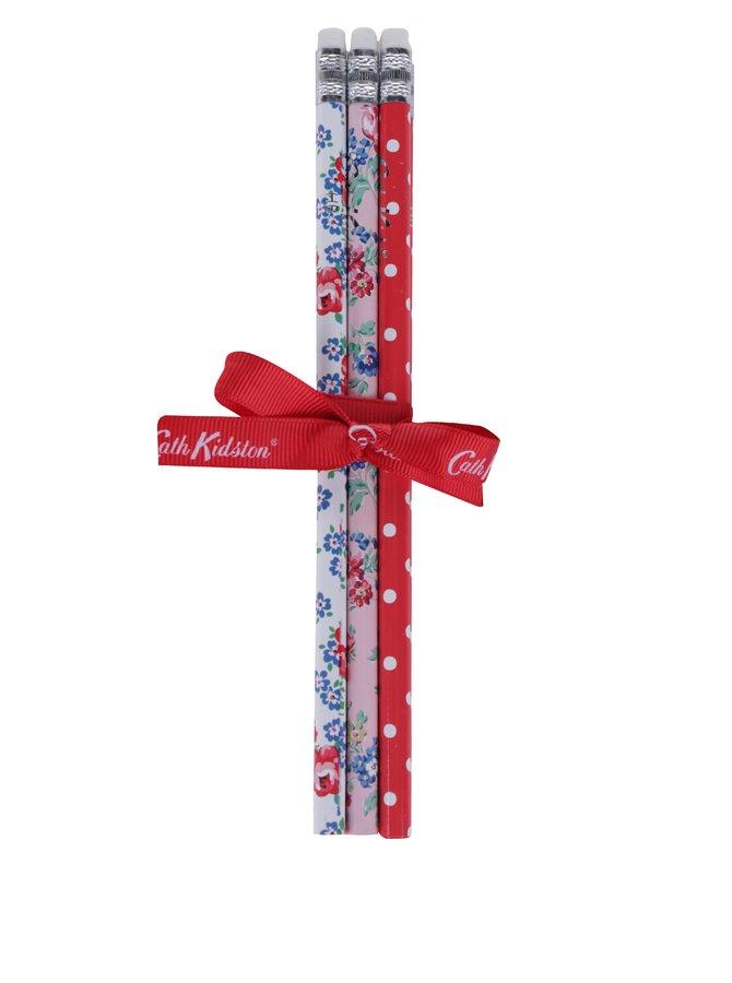 Sada šesti vzorovaných tužek v bílé, růžové a červené barvě Cath Kidston