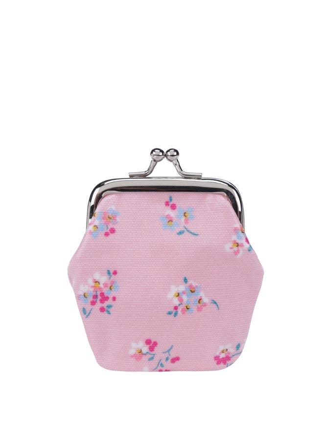 Světle růžová holčičí květovaná peněženka Cath Kidston