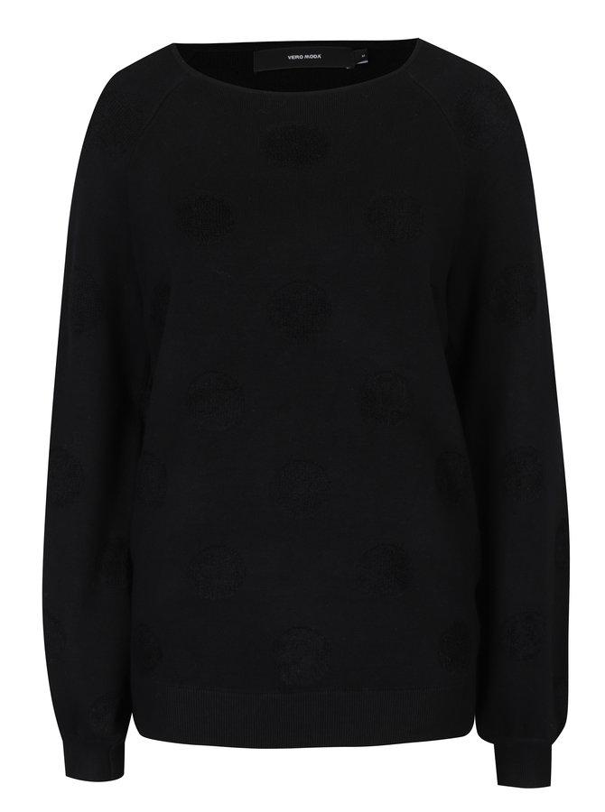 Pulover negru cu buline - VERO MODA Baldwin